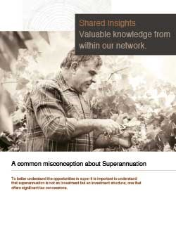 A common misconception about Superannuation